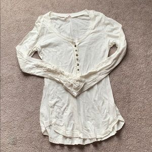 Free People embroidered long sleeve shirt